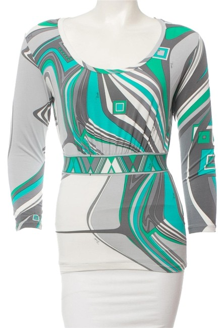 Preload https://item1.tradesy.com/images/emilio-pucci-green-white-grey-top-multicolor-4405570-0-0.jpg?width=400&height=650