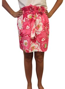 Lilly Pulitzer Mini Skirt Hotty Pink Cherry Begonias