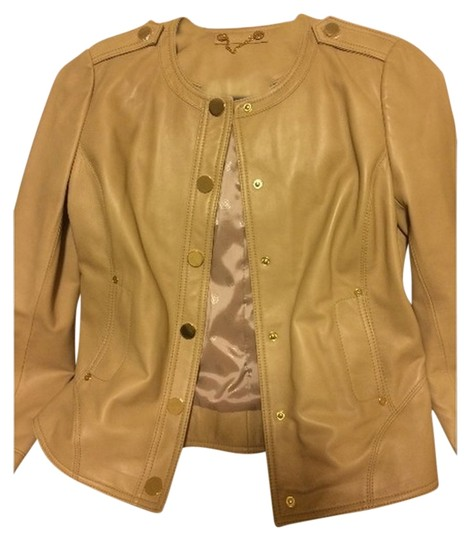 cheap Tory Burch Tan Leather Jacket - 78% Off Retail