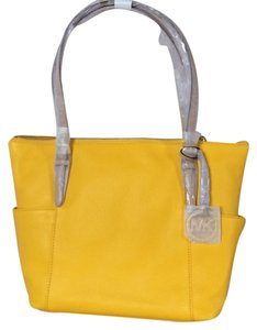 Michael Kors Leather Tote in Citrus Yellow