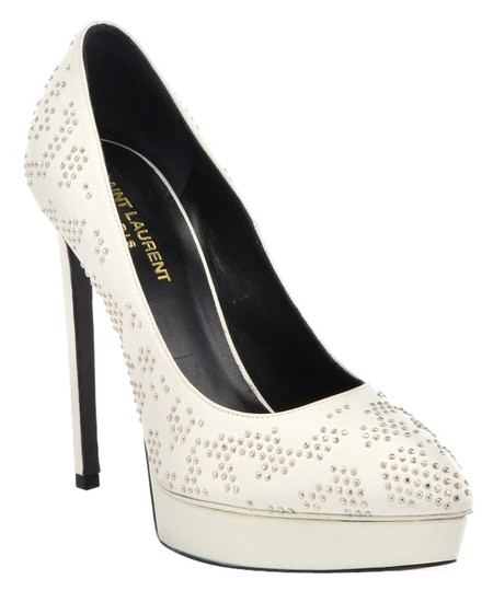 Saint Laurent Ysl Yves White Pumps