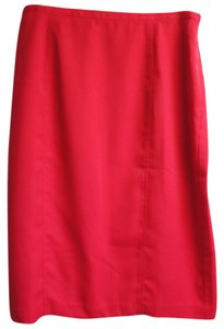 Mary McFadden Classic Lined Skirt Red