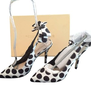 Menbur White with Black Polka Dots Formal