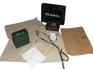 Chanel Lot of 9 designer bags Gucci Chanel LV shopping & dust covers
