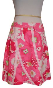 Lilly Pulitzer Skirt Pink Floral