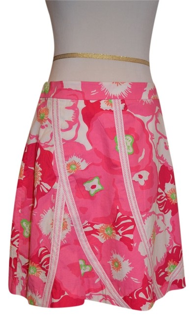 Preload https://item2.tradesy.com/images/lilly-pulitzer-pink-floral-knee-length-skirt-size-4-s-27-4406626-0-0.jpg?width=400&height=650