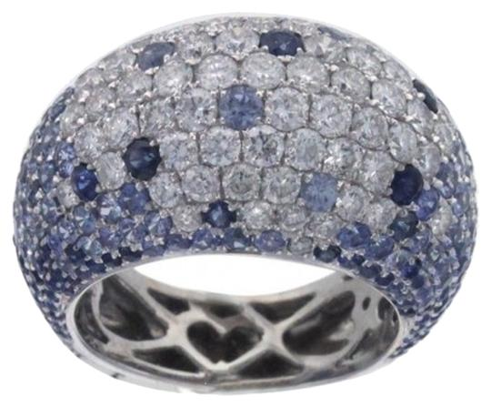 Preload https://item5.tradesy.com/images/ladies-18k-white-gold-diamond-and-blue-sapphire-cocktail-ring-4406659-0-0.jpg?width=440&height=440