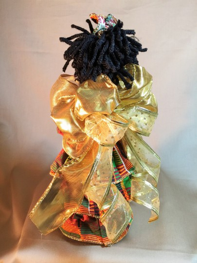 Other Christmas / Kwanzaa Tree Topper Angel; Ghanaian Kente Cloth by Kraemer Textiles [ SisterSoul Closet ]