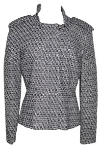 Chanel BLACK WHITE TWEED Jacket