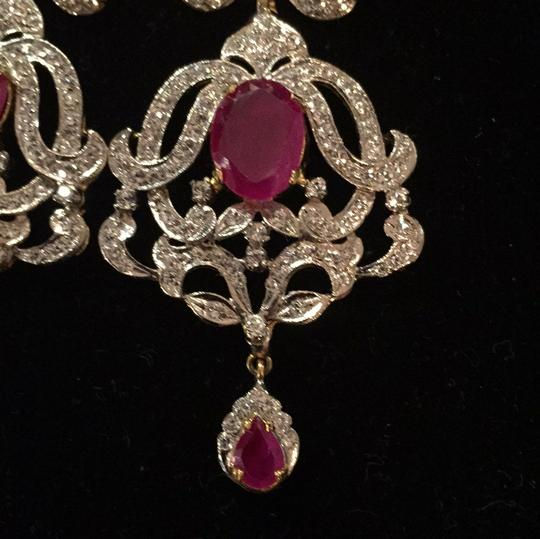Ruby Red color of passion white Diamond Aura you can see from every angle