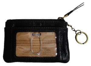 Fossil Leather zip coin purse