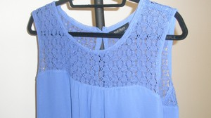 White House | Black Market Lace Top Blue