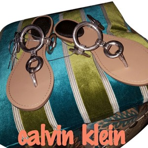 Calvin Klein gold Sandals