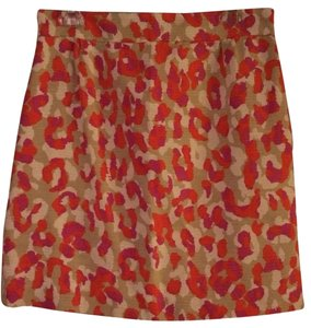 Kate Spade Skirt Pink Coral Beige White