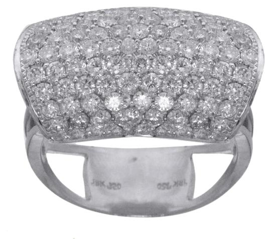 Preload https://item4.tradesy.com/images/ladies-18k-white-gold-domed-style-diamond-cocktail-ring-4407733-0-0.jpg?width=440&height=440