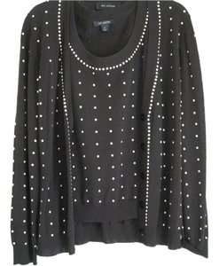 St. John Beaded Twinset Sweater