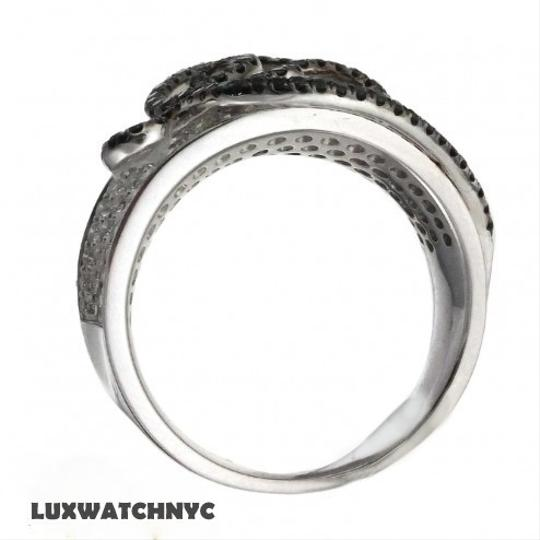 Other BRAND NEW, Ladies 14K White Gold Diamond Cocktail Ring with Black and White Diamonds