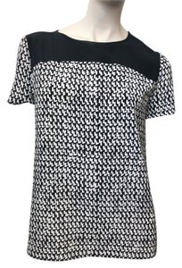 Diane von Furstenberg Top Tweed Dash Black