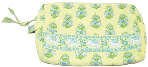 Vera Bradley Vera Bradley Lime Green Citrus Elephants Makeup Cosmetic Brush Bag Purse Organizer