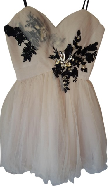 Preload https://item2.tradesy.com/images/bee-darlin-beige-classy-elegant-sleeveless-sweetheart-embellished-cute-only-worn-once-homecoming-pro-4408561-0-0.jpg?width=400&height=650