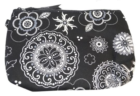 Other 31 Thirty-One Black White Mini Zipper Pouch Makeup Cosmetic Bag