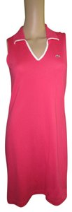 Lacoste short dress Hot Pink Classic Nautical Preppy on Tradesy