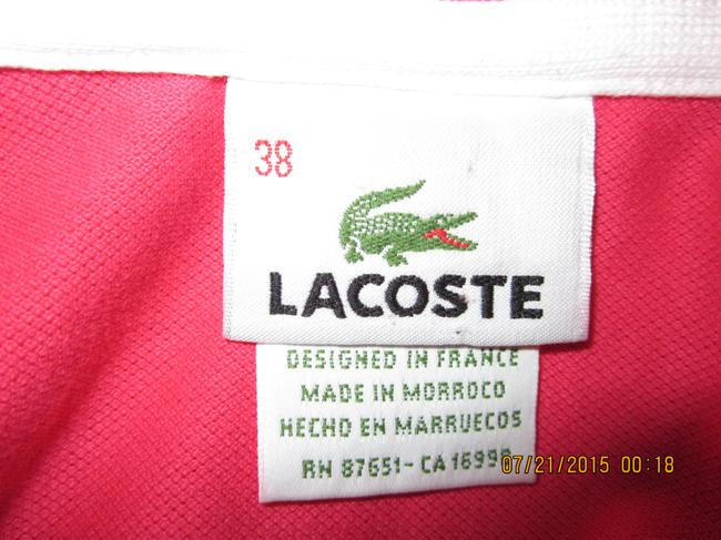 Lacoste short dress Hot Pink Classic Nautical Preppy Sleeveless Vintage on Tradesy