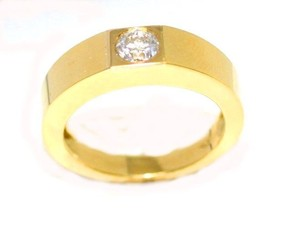 Alpha Gypsy Yellow Gold Diamond Men's Wedding Band
