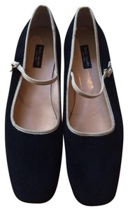 Kate Spade Mary Jane Velvet Black Flats