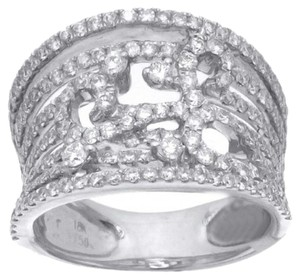 Other BRAND NEW, Ladies 18k White Gold Diamond Cocktail Ring with Cutout Design