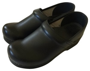 Dansko Black leather Mules