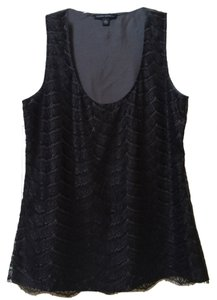 Banana Republic Sleeveless Top Black lace