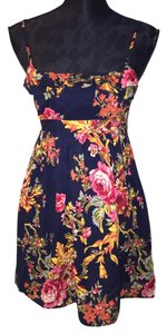 Xhilaration short dress Multi-colored floral on Tradesy