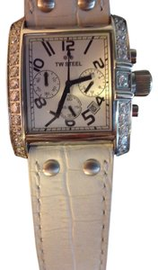 TW Steel TW Steel White Watch with Rhinestones