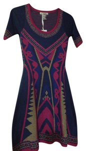 Flying Tomato short dress Blue/pink/beige Multi on Tradesy