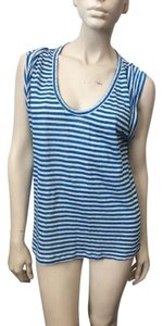 Joie T Shirt White, blue