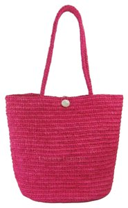 Annabel Ingall Straw Tote in Pink