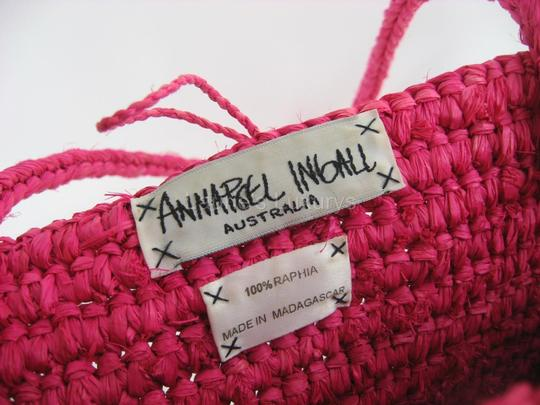Annabel Ingall Straw Beach Tote in Pink
