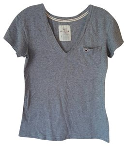 Hollister V-neck Comfortable T Shirt grey