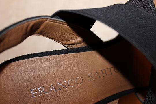 Franco Sarto Braided Black Wedges