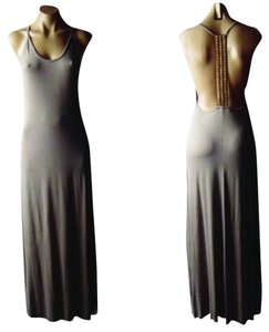 Taupe Maxi Dress by Boho Chic Long Maxi Tank Brown Nude