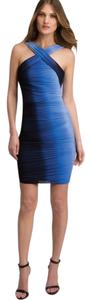 Halston Ombre Bandage Evening Wedding Night Out Ocean Midnight Cobalt Bcbg Tory Burch Joie Gypsy Rebecca Taylor Alice Olivia + Dress