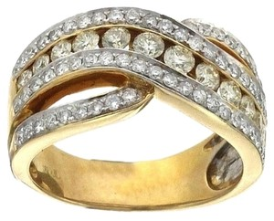 BRAND NEW, Ladies 18K Yellow Gold White and Yellow Diamond Cocktail Ring
