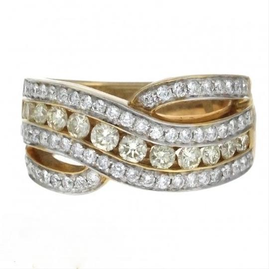 Other BRAND NEW, Ladies 18K Yellow Gold White and Yellow Diamond Cocktail Ring
