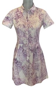 Comptoir des Cotonniers short dress White and lavendar on Tradesy