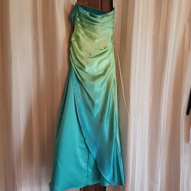 Jump Apparel Sparkle Ombre Strapless Prom Dress