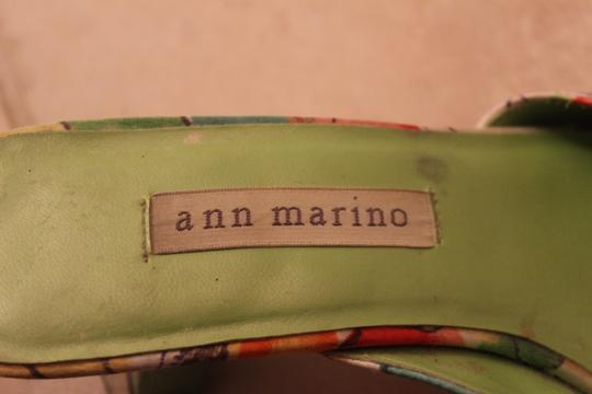 Ann Marino Green, coral, yellow, orange Formal