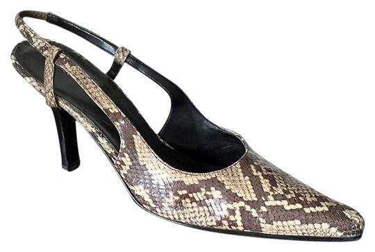 Banana Republic Snakeskin Date Night Night Out Office Brown Pumps