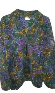 REI REI women's sz M 1/2 zip batik fleece sweater jacket - toggle waist