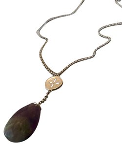 New Necklace With Amethyst Stone Pendant